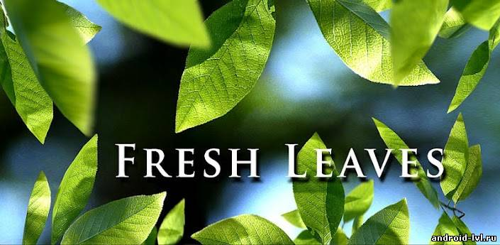 Fresh Leaves Live Wallpaper